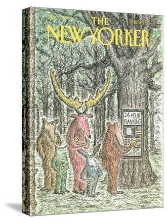The New Yorker Cover - May 7, 1990-Edward Koren-Stretched Canvas Print