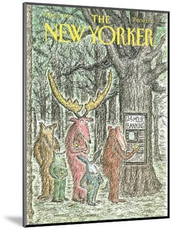 The New Yorker Cover - May 7, 1990-Edward Koren-Mounted Premium Giclee Print