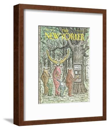 The New Yorker Cover - May 7, 1990-Edward Koren-Framed Premium Giclee Print