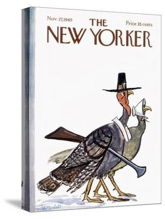 The New Yorker Cover - November 27, 1965-Frank Modell-Stretched Canvas Print