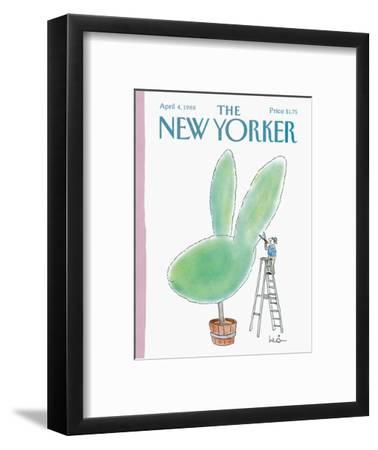 The New Yorker Cover - April 4, 1988-Arnie Levin-Framed Premium Giclee Print