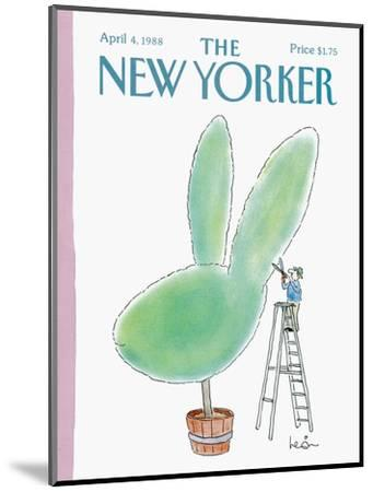 The New Yorker Cover - April 4, 1988-Arnie Levin-Mounted Premium Giclee Print