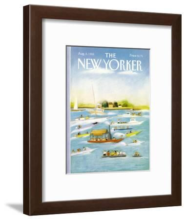 The New Yorker Cover - August 8, 1988-Susan Davis-Framed Premium Giclee Print