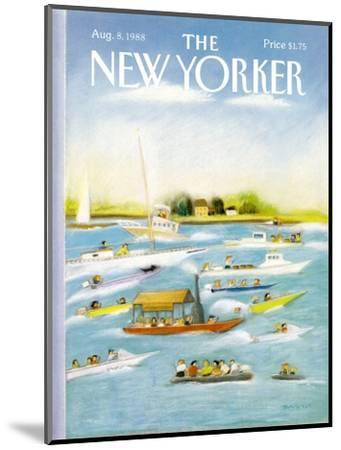 The New Yorker Cover - August 8, 1988-Susan Davis-Mounted Premium Giclee Print