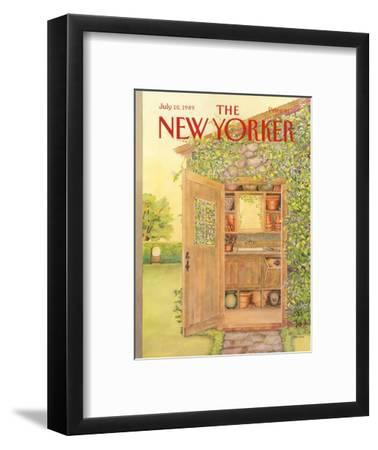 The New Yorker Cover - July 10, 1989-Jenni Oliver-Framed Premium Giclee Print