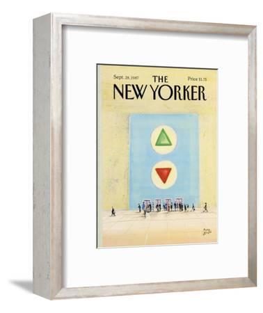 The New Yorker Cover - September 28, 1987-Paul Degen-Framed Premium Giclee Print