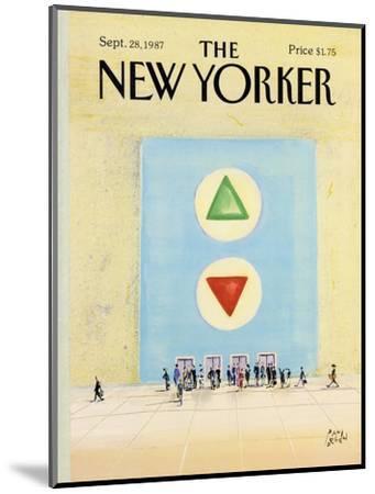 The New Yorker Cover - September 28, 1987-Paul Degen-Mounted Premium Giclee Print