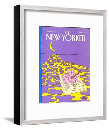 The New Yorker Cover - July 27, 1987-Arnie Levin-Framed Premium Giclee Print