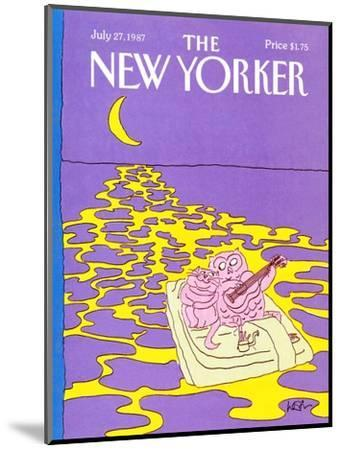 The New Yorker Cover - July 27, 1987-Arnie Levin-Mounted Premium Giclee Print