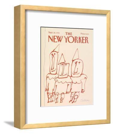 The New Yorker Cover - September 22, 1986-Robert Tallon-Framed Premium Giclee Print
