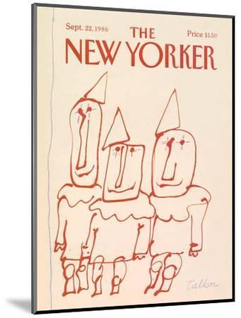 The New Yorker Cover - September 22, 1986-Robert Tallon-Mounted Premium Giclee Print