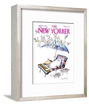 The New Yorker Cover - June 10, 1991-Ronald Searle-Framed Premium Giclee Print