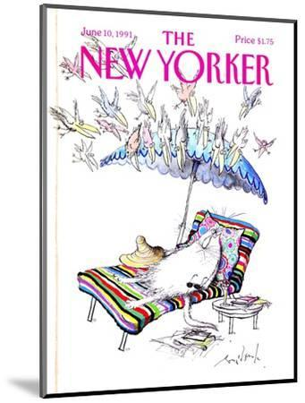 The New Yorker Cover - June 10, 1991-Ronald Searle-Mounted Premium Giclee Print