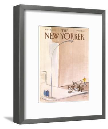 The New Yorker Cover - March 25, 1985-Paul Degen-Framed Premium Giclee Print