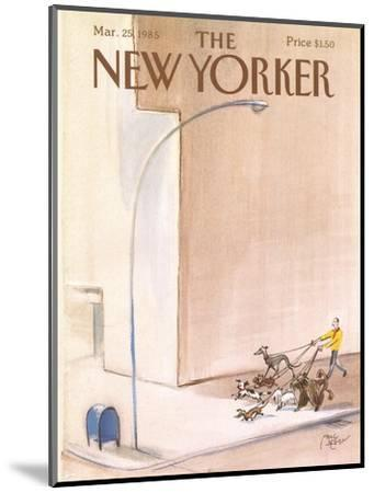 The New Yorker Cover - March 25, 1985-Paul Degen-Mounted Premium Giclee Print