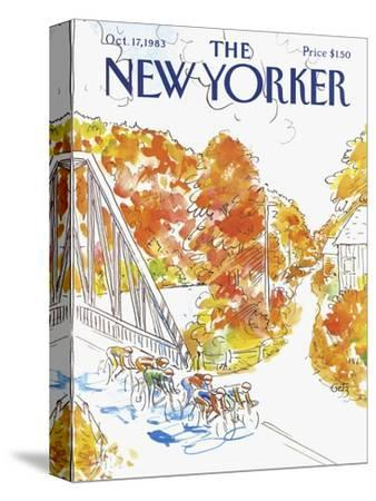The New Yorker Cover - October 17, 1983-Arthur Getz-Stretched Canvas Print