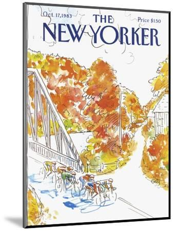 The New Yorker Cover - October 17, 1983-Arthur Getz-Mounted Premium Giclee Print