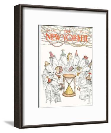The New Yorker Cover - January 4, 1982-Edward Koren-Framed Premium Giclee Print