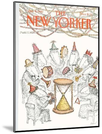 The New Yorker Cover - January 4, 1982-Edward Koren-Mounted Premium Giclee Print