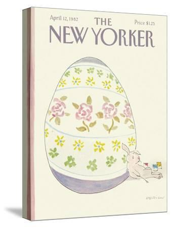 The New Yorker Cover - April 12, 1982-James Stevenson-Stretched Canvas Print