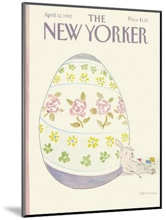 The New Yorker Cover - April 12, 1982-James Stevenson-Mounted Premium Giclee Print