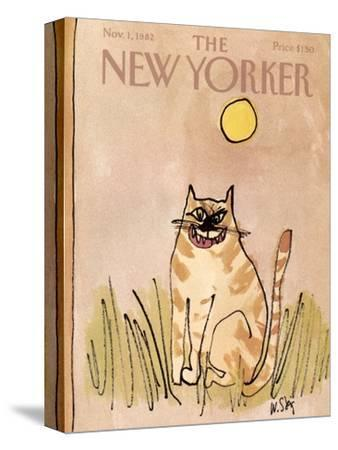 The New Yorker Cover - November 1, 1982-William Steig-Stretched Canvas Print