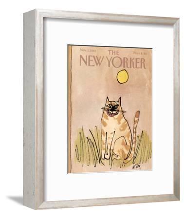 The New Yorker Cover - November 1, 1982-William Steig-Framed Premium Giclee Print
