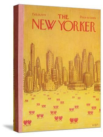The New Yorker Cover - February 18, 1974-Robert Weber-Stretched Canvas Print