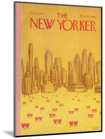 The New Yorker Cover - February 18, 1974-Robert Weber-Mounted Premium Giclee Print