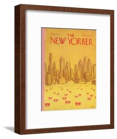 The New Yorker Cover - February 18, 1974-Robert Weber-Framed Premium Giclee Print