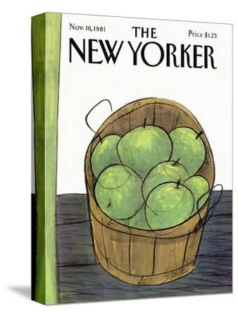 The New Yorker Cover - November 16, 1981-Donald Reilly-Stretched Canvas Print