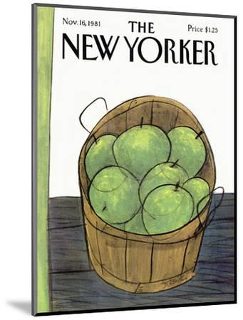 The New Yorker Cover - November 16, 1981-Donald Reilly-Mounted Premium Giclee Print