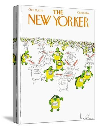 The New Yorker Cover - October 22, 1979-Arnie Levin-Stretched Canvas Print