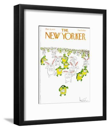 The New Yorker Cover - October 22, 1979-Arnie Levin-Framed Premium Giclee Print