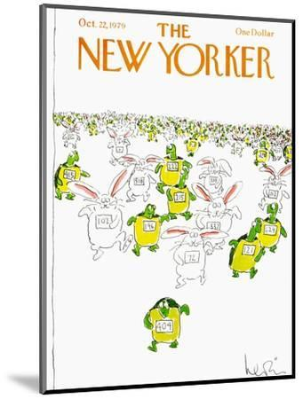 The New Yorker Cover - October 22, 1979-Arnie Levin-Mounted Premium Giclee Print