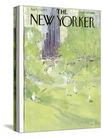 The New Yorker Cover - April 24, 1971-Arthur Getz-Stretched Canvas Print