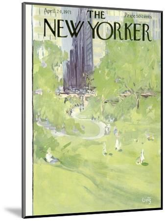 The New Yorker Cover - April 24, 1971-Arthur Getz-Mounted Premium Giclee Print