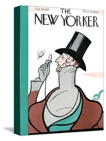 The New Yorker Cover - February 20, 1926-Rea Irvin-Stretched Canvas Print