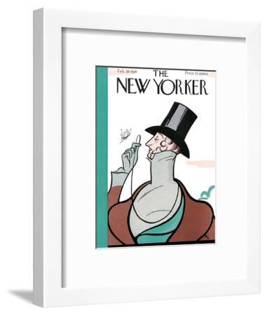 The New Yorker Cover - February 20, 1926-Rea Irvin-Framed Premium Giclee Print