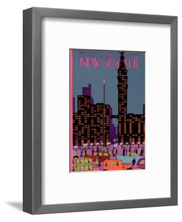 The New Yorker Cover - March 2, 1929-Adolph K. Kronengold-Framed Premium Giclee Print