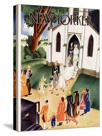 The New Yorker Cover - June 22, 1929-Constantin Alajalov-Stretched Canvas Print