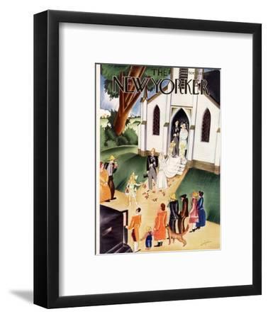 The New Yorker Cover - June 22, 1929-Constantin Alajalov-Framed Premium Giclee Print