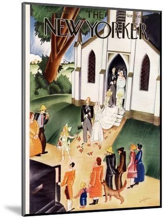 The New Yorker Cover - June 22, 1929-Constantin Alajalov-Mounted Premium Giclee Print