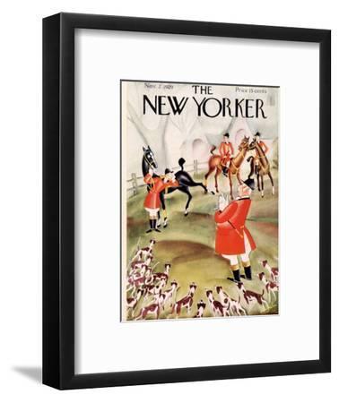The New Yorker Cover - November 2, 1929-Constantin Alajalov-Framed Premium Giclee Print
