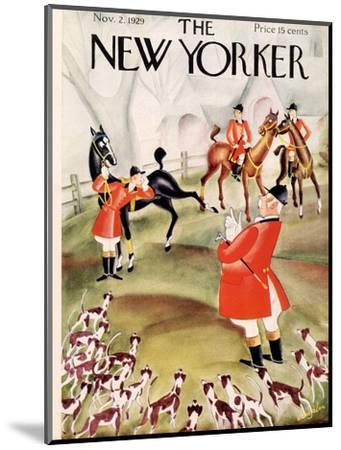 The New Yorker Cover - November 2, 1929-Constantin Alajalov-Mounted Premium Giclee Print
