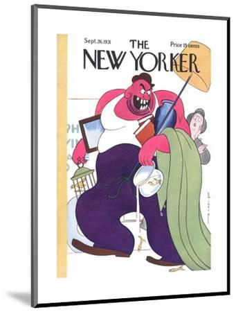 The New Yorker Cover - September 26, 1931-Rea Irvin-Mounted Premium Giclee Print