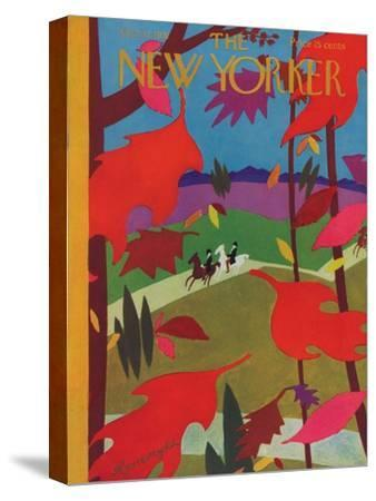 The New Yorker Cover - October 17, 1931-Adolph K. Kronengold-Stretched Canvas Print