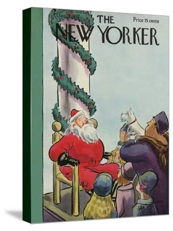 The New Yorker Cover - December 3, 1932-Helen E. Hokinson-Stretched Canvas Print