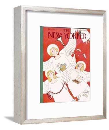 The New Yorker Cover - December 24, 1932-Rea Irvin-Framed Premium Giclee Print
