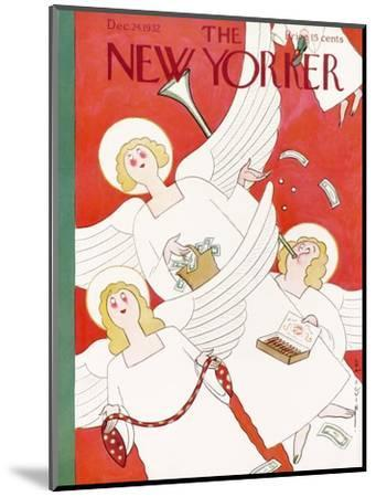 The New Yorker Cover - December 24, 1932-Rea Irvin-Mounted Premium Giclee Print